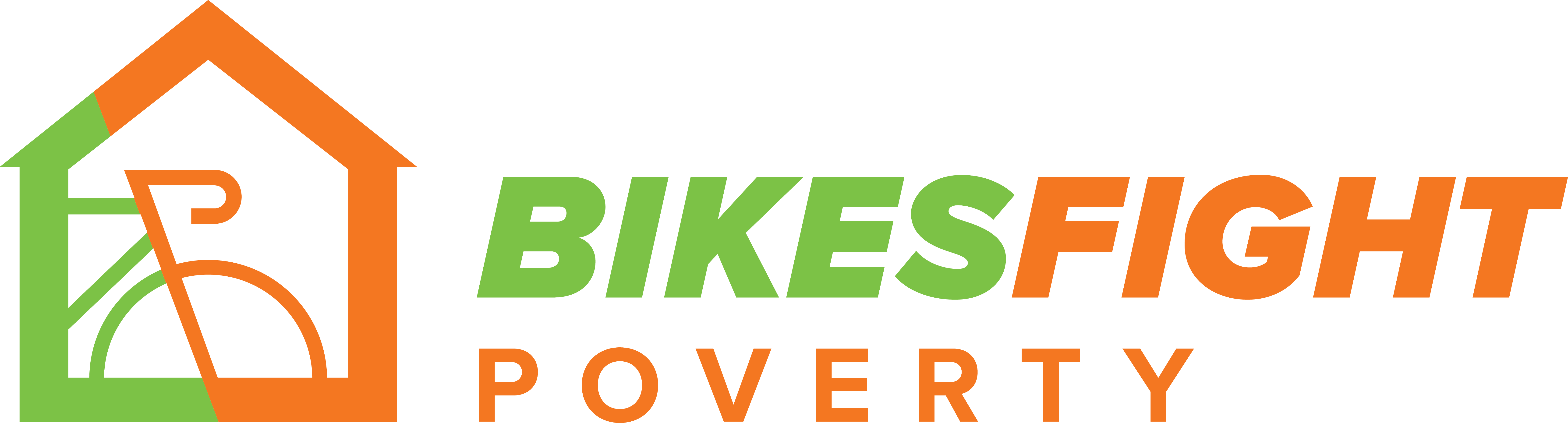 Bikes Fight Poverty Logo Side